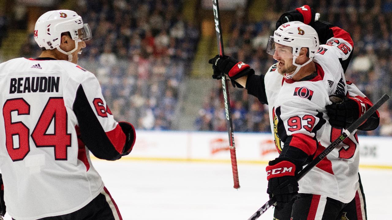 Scherwey capitalizes on Marner turnover as Senators beat Maple Leafs