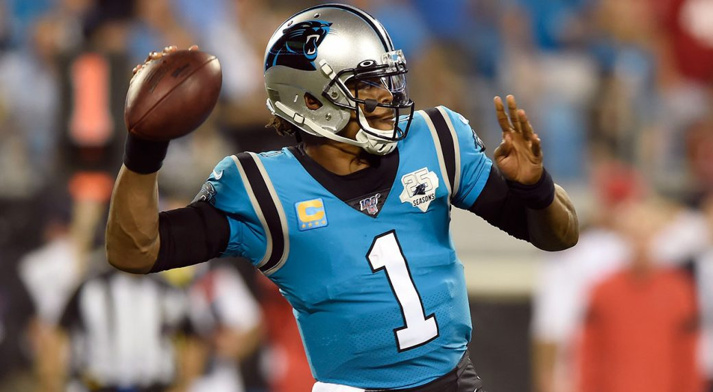 Panthers' Cam Newton Is 'Day to Day' After Reaggravating Foot Injury