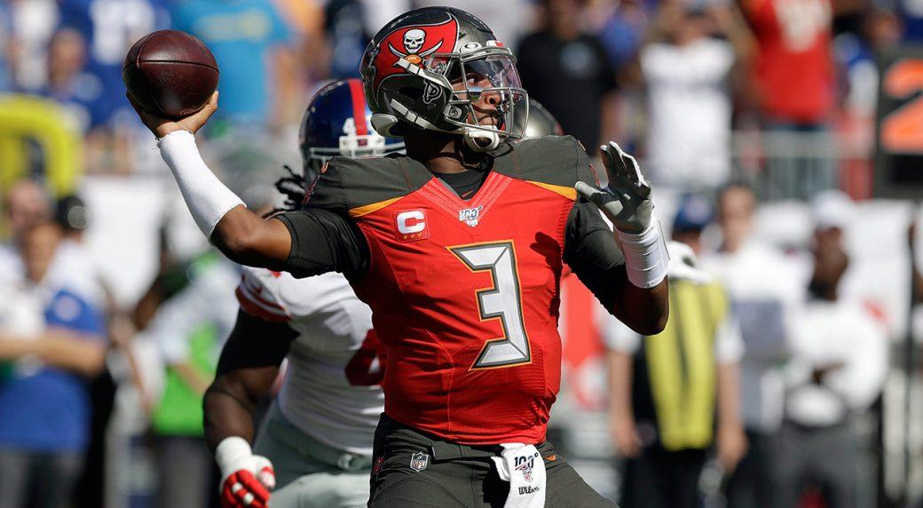 Jameis Winston throws four touchdowns as Buccaneers stun ...