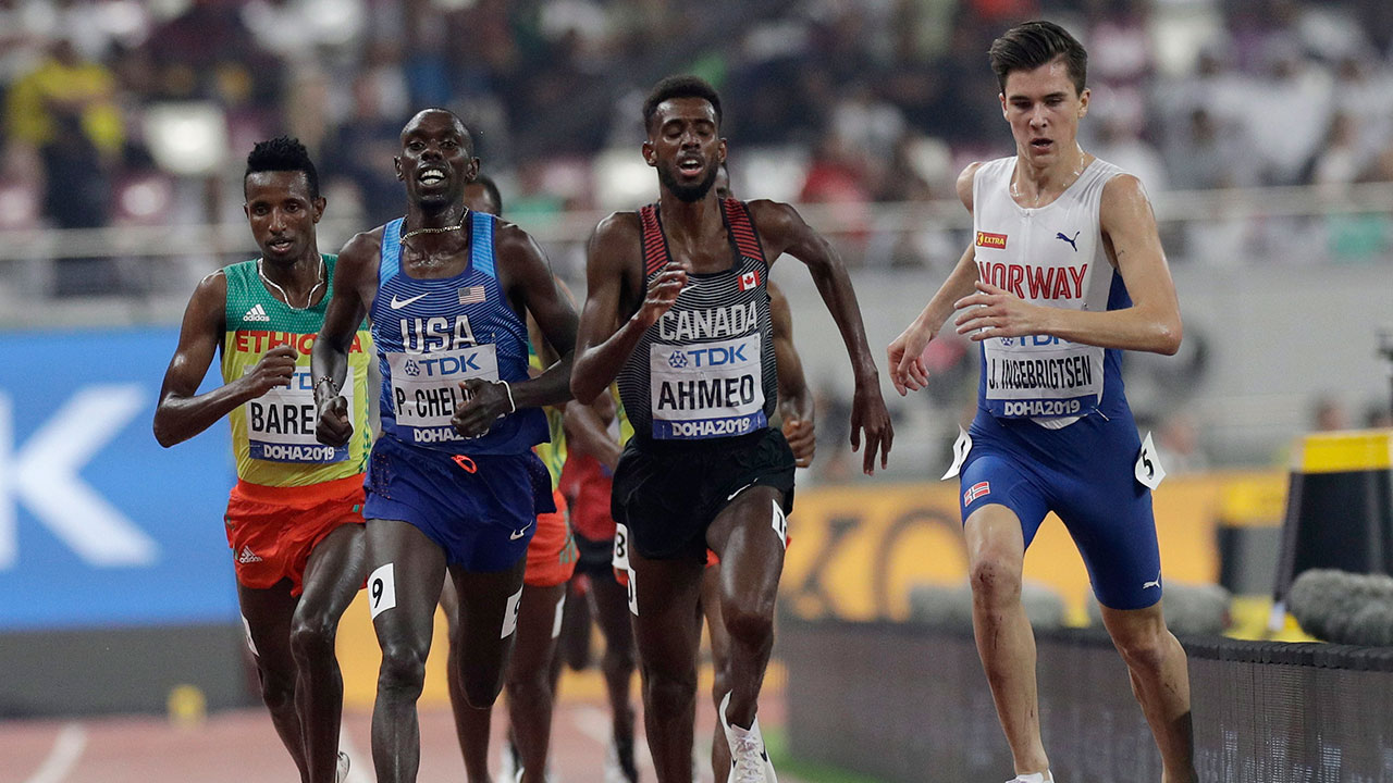 Canada's Mohammed Ahmed wins bronze in 5,000 metres at worlds