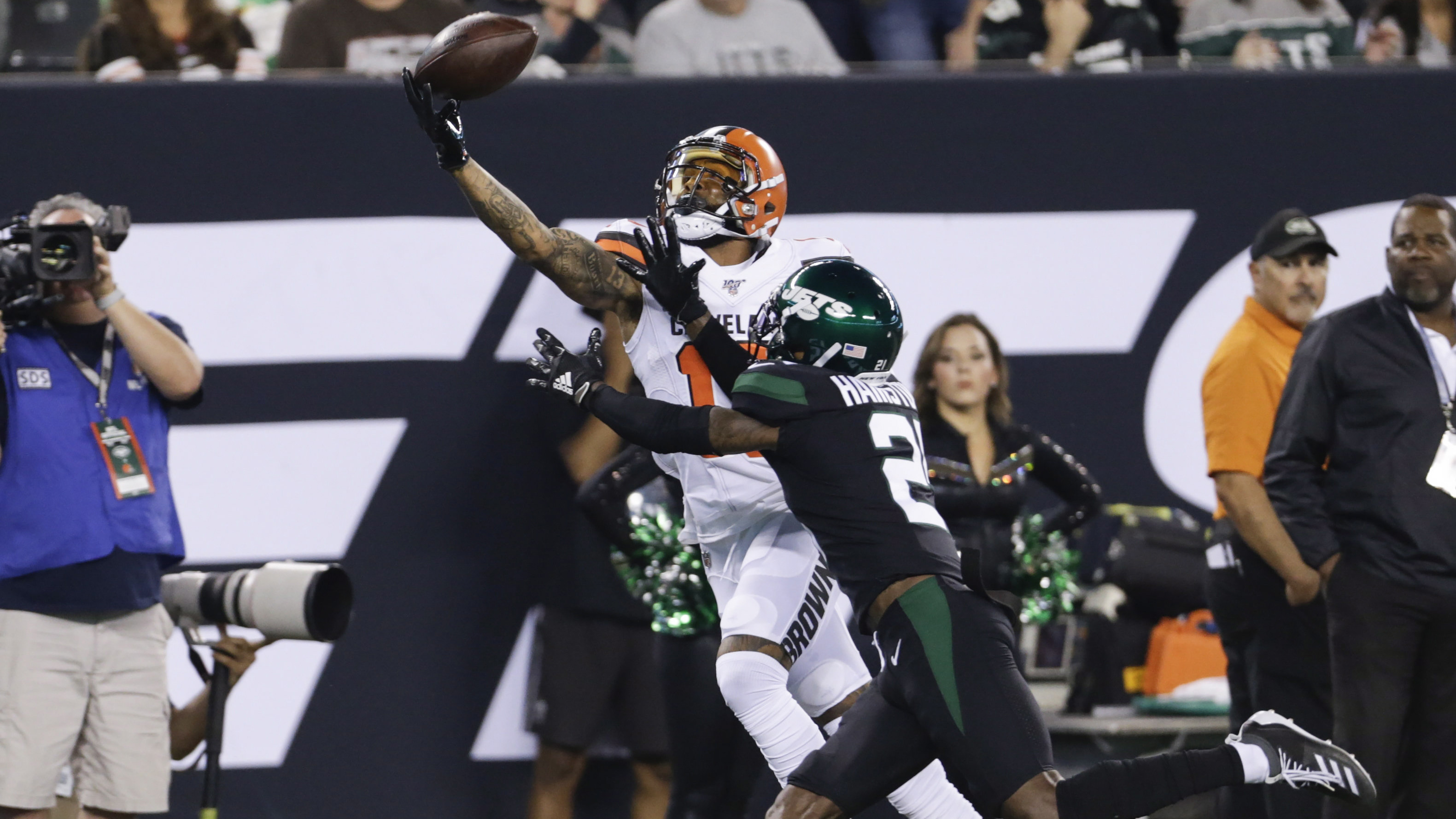 finest selection 14c9e 4d3c8 Odell Beckham Jr. puts on show in MetLife return as Browns ...