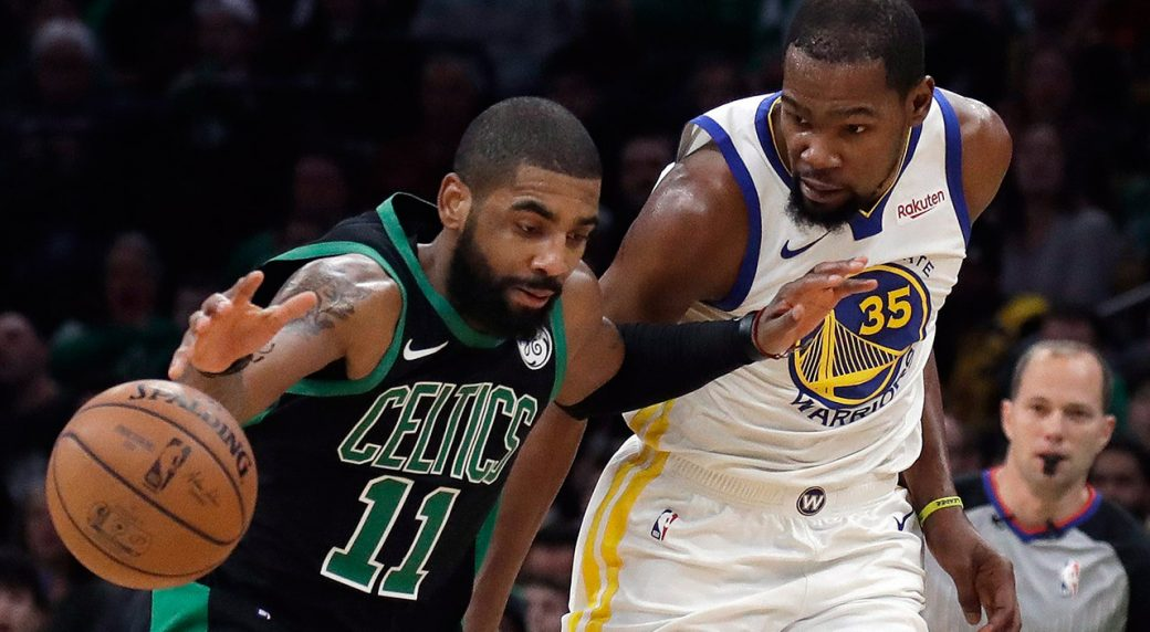 celtics-kyrie-irving-dribbles-against-warriors-kevin-durant
