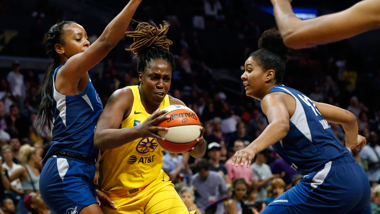 Sparks eliminate defending-champion Storm from WNBA playoffs