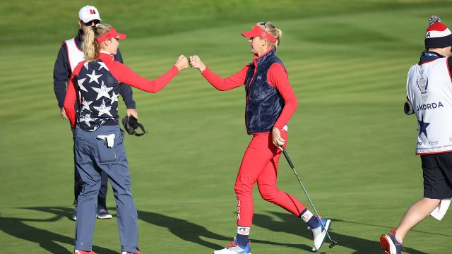 united-states-nelly-and-jessica-korda-at-solheim-cup