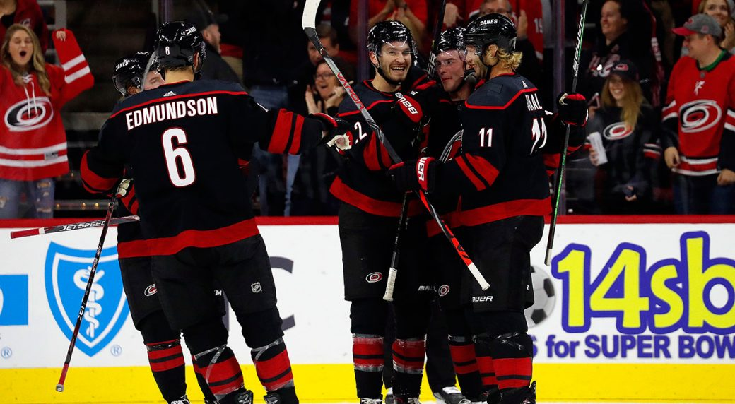 National Hockey League roundup: Hurricanes make history with win