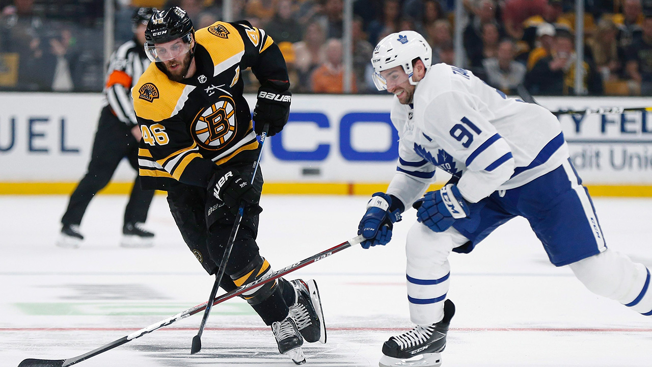 Bruins place David Krejci on injured reserve, recall Anders Bjork
