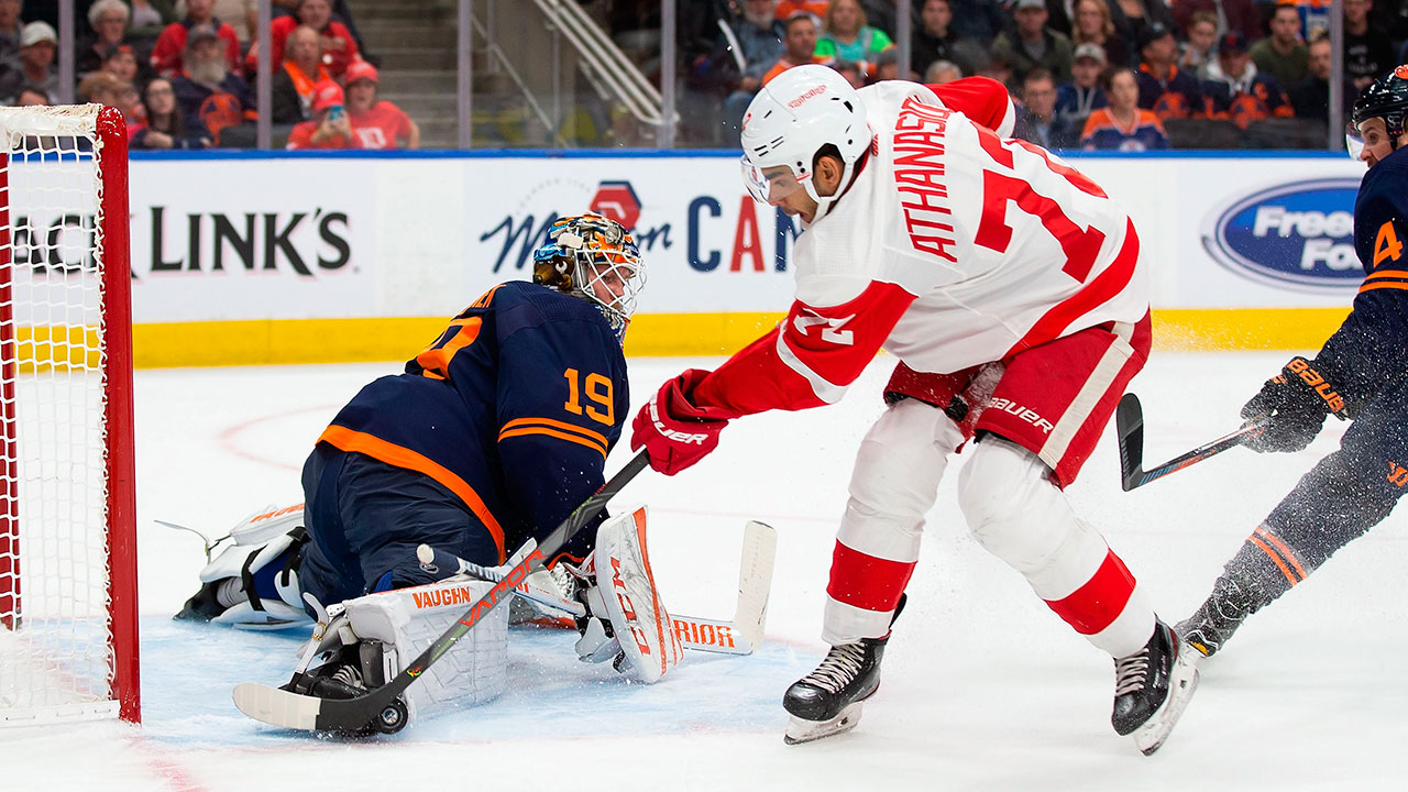 Oilers acquire Andreas Athanasiou from Red Wings