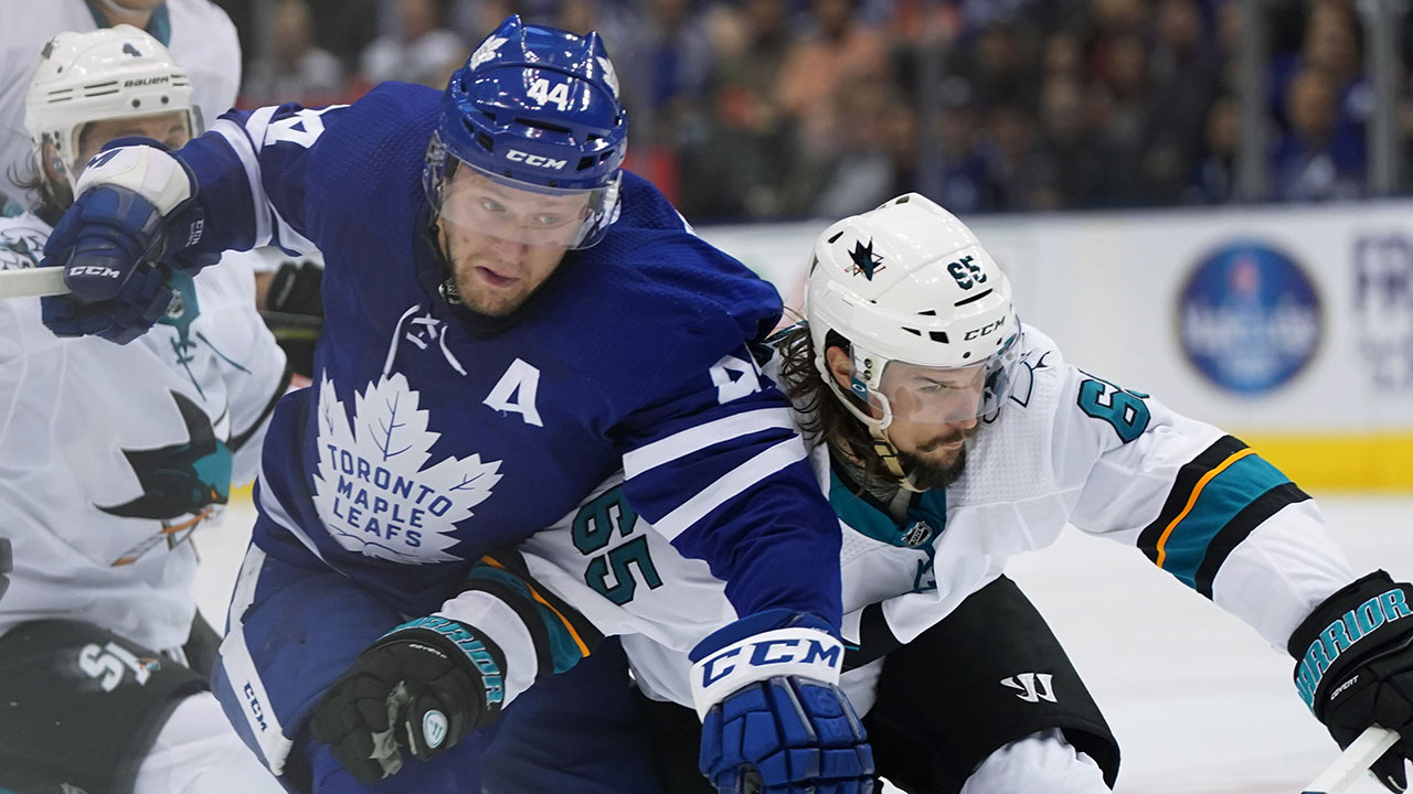 Leafs' back on course after a big win at home over the Sharks
