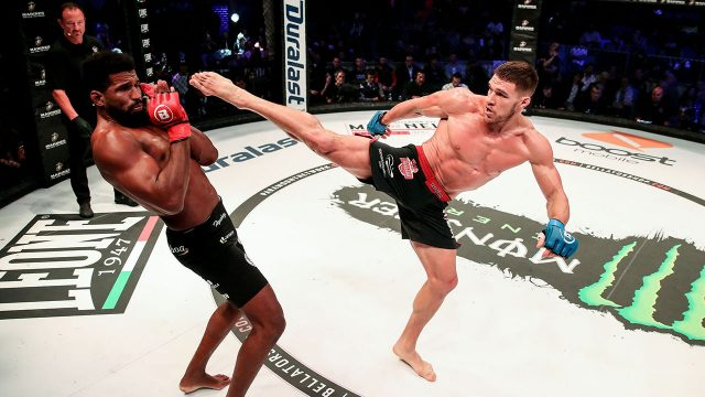 Vadim-Nemkov-kicks-at-Rafael-Carvalho-Bellator-230