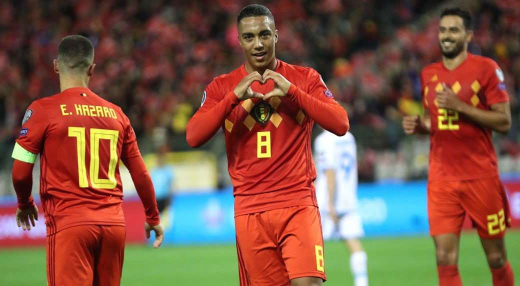 Image result for youri tielemans vs san marino