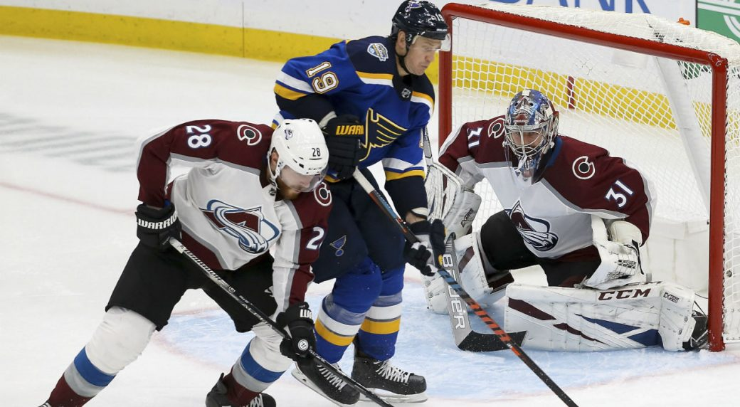 Avalanche forward Mikko Rantanen leaves game vs. Blues with apparent ankle injury