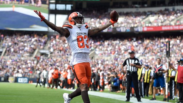 browns-ricky-seals-jones-celebrates-touchdown-against-ravens