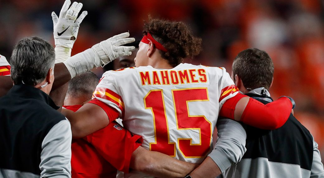 Patrick Mahomes already back at practice for Chiefs