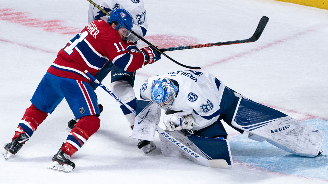 Canadiens' electric offence struck down by Vasilevskiy and the Lightning