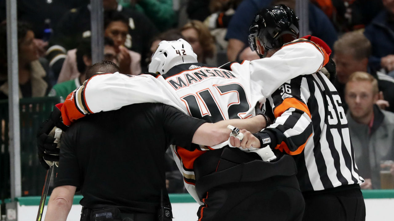 Ducks' lose Manson with knee injury