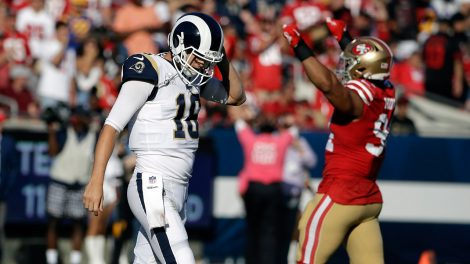 rams-quarterback-jared-goff-walks-off-field-against-49ers