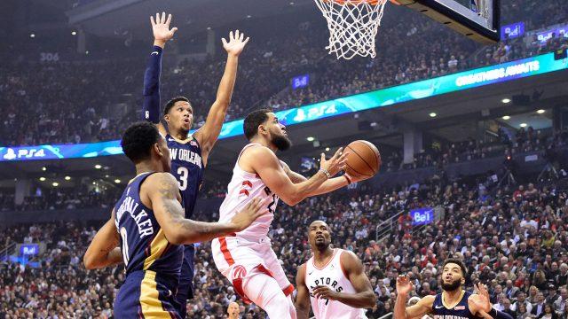 raptors-vanvleet-shoots-basketball