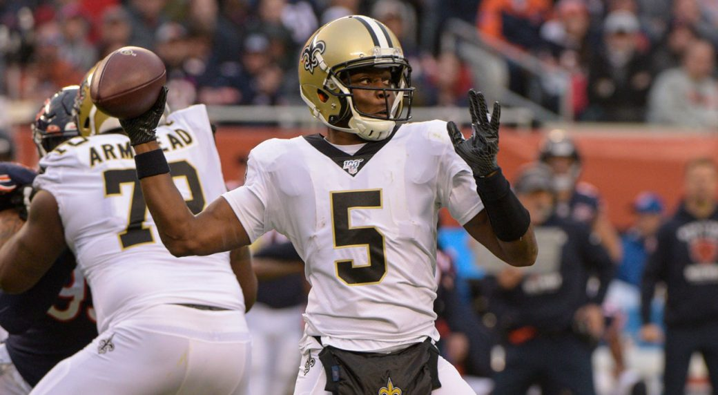 saints-bridgewater-throws-pass