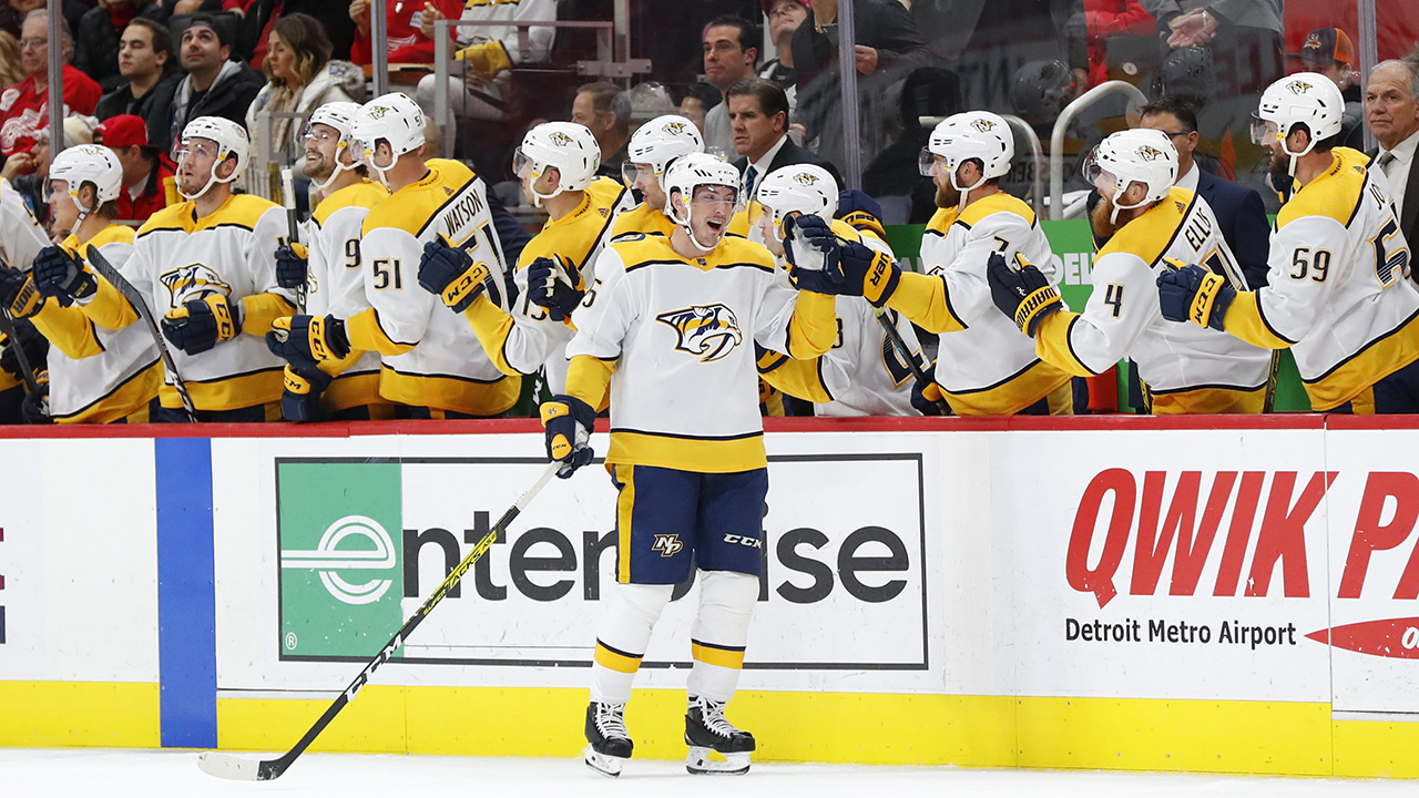 Preds crush the slumping Red Wings 6-1 at home