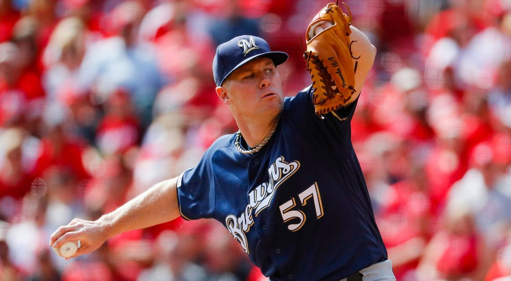 Brewers trade pitcher Chase Anderson to Blue Jays
