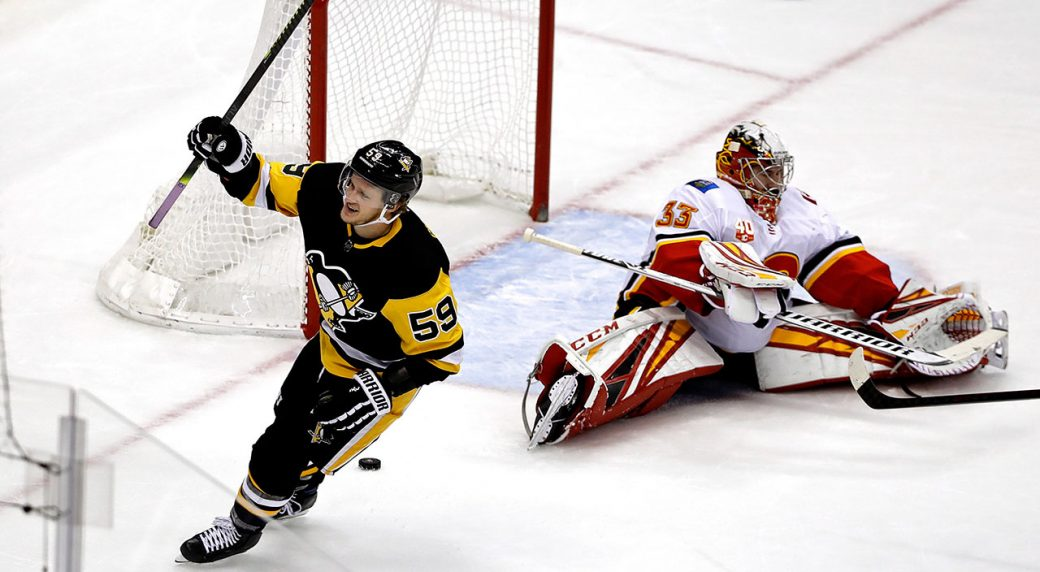Guentzel scores in OT as Penguins beat Flames
