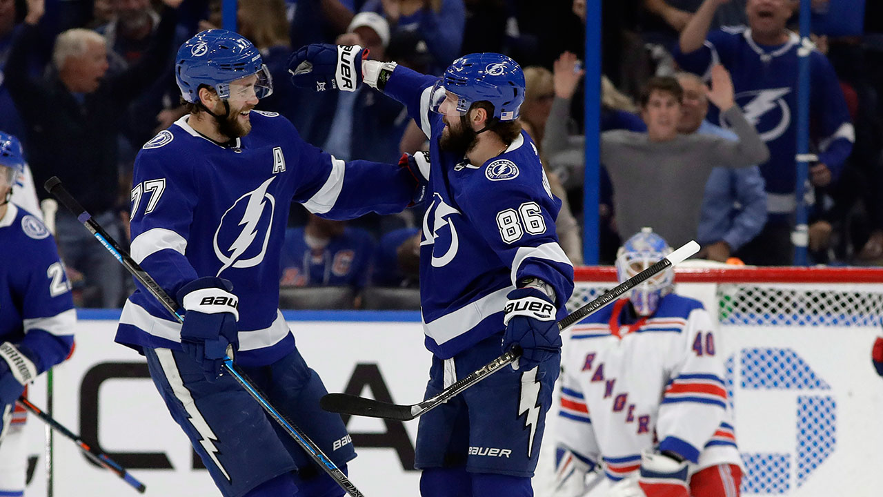 Lightning sets team record after crushing Rangers 9-3