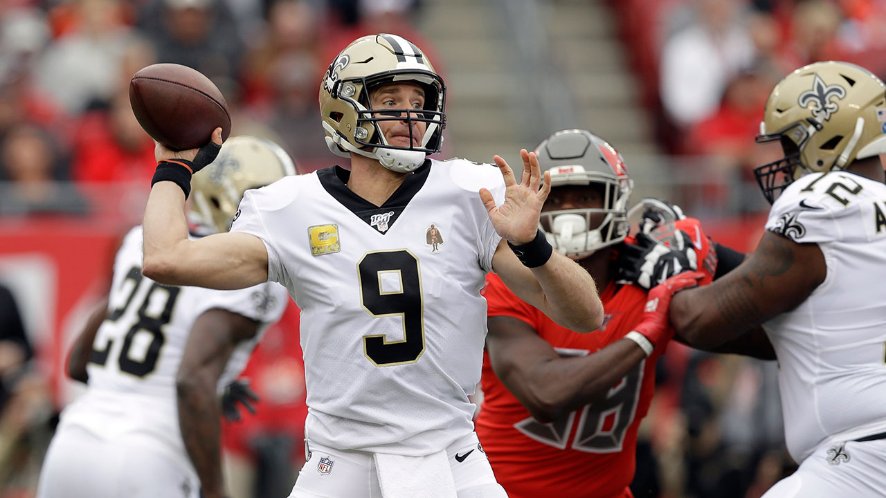 Drew Brees throws for 228 yards, three TDs as Saints beat Bucs