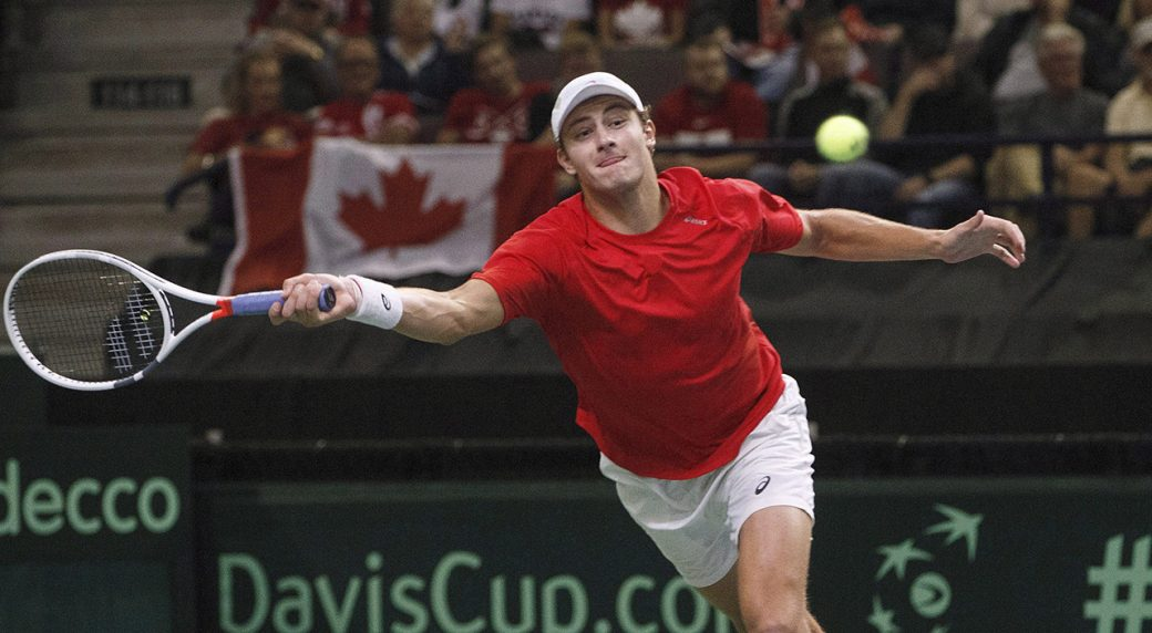 canadas-brayden-schnur-returns-a-serve-at-davis-cup