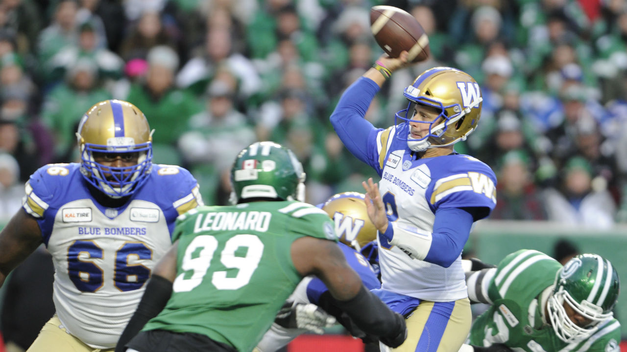 Blue Bombers defeat Roughriders, advance to 107th Grey Cup
