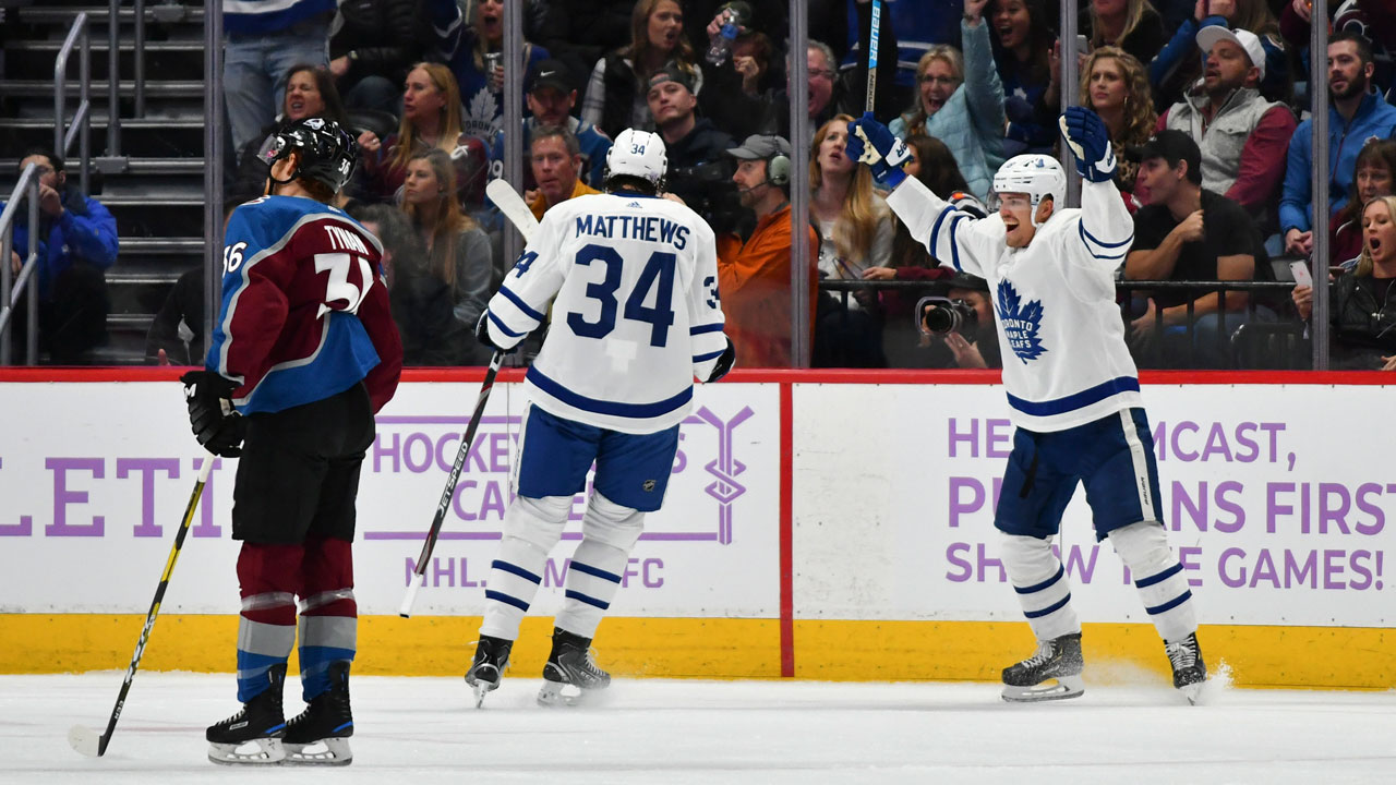 Barrie and the Leafs beat Kadri and the Avs