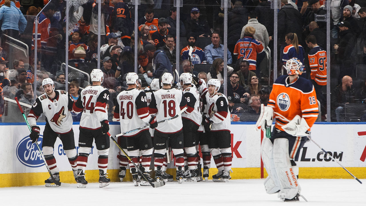 Red hot desert dogs top the Oilers in O.T.