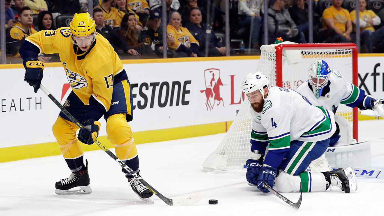 Five and a shorty give the 'Nucks a much needed win in Smashville