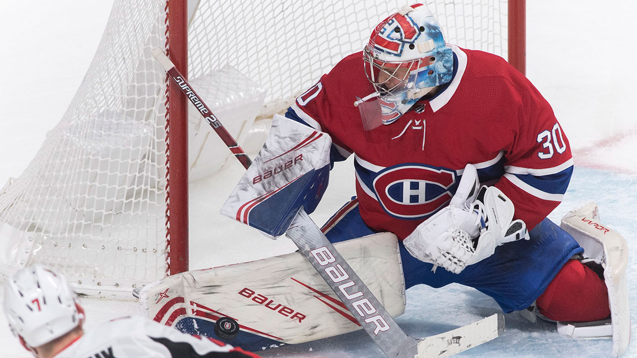Primo Primeau. Habs' rookie beats the Sens en route to his first NHL victory