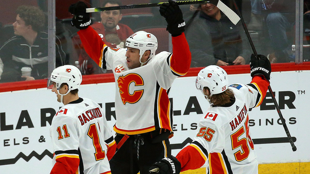 Flames' Lucic takes step toward regaining form after move from Oilers