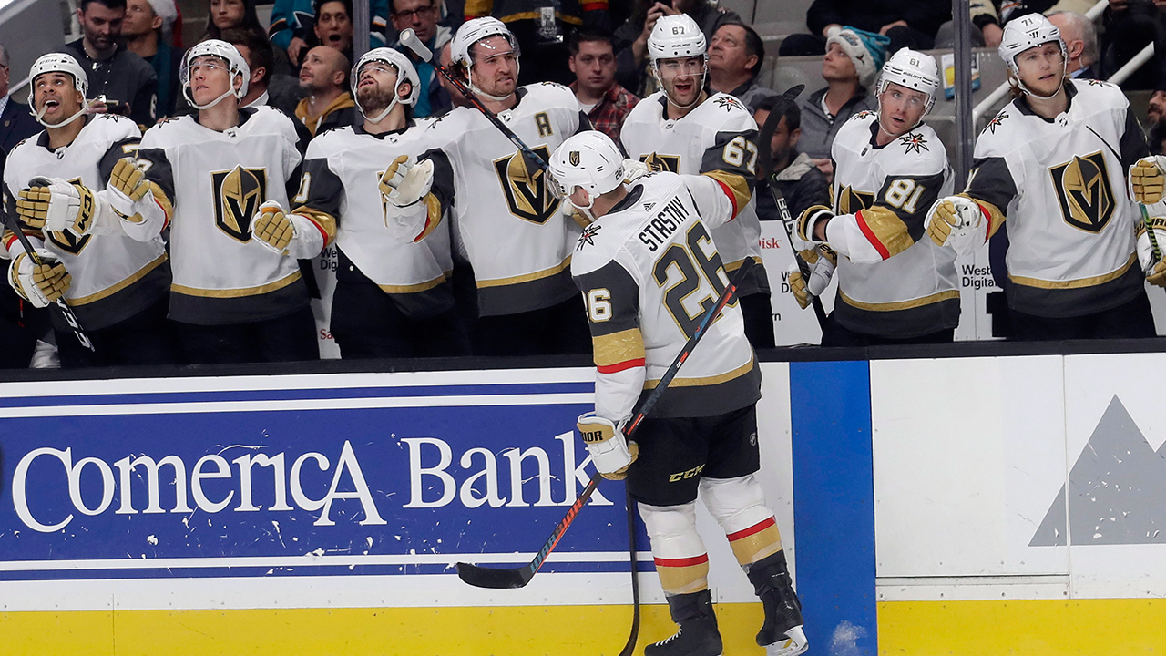 Thornton's goal drought extends to 43 games as the Sharks lose to Vegas