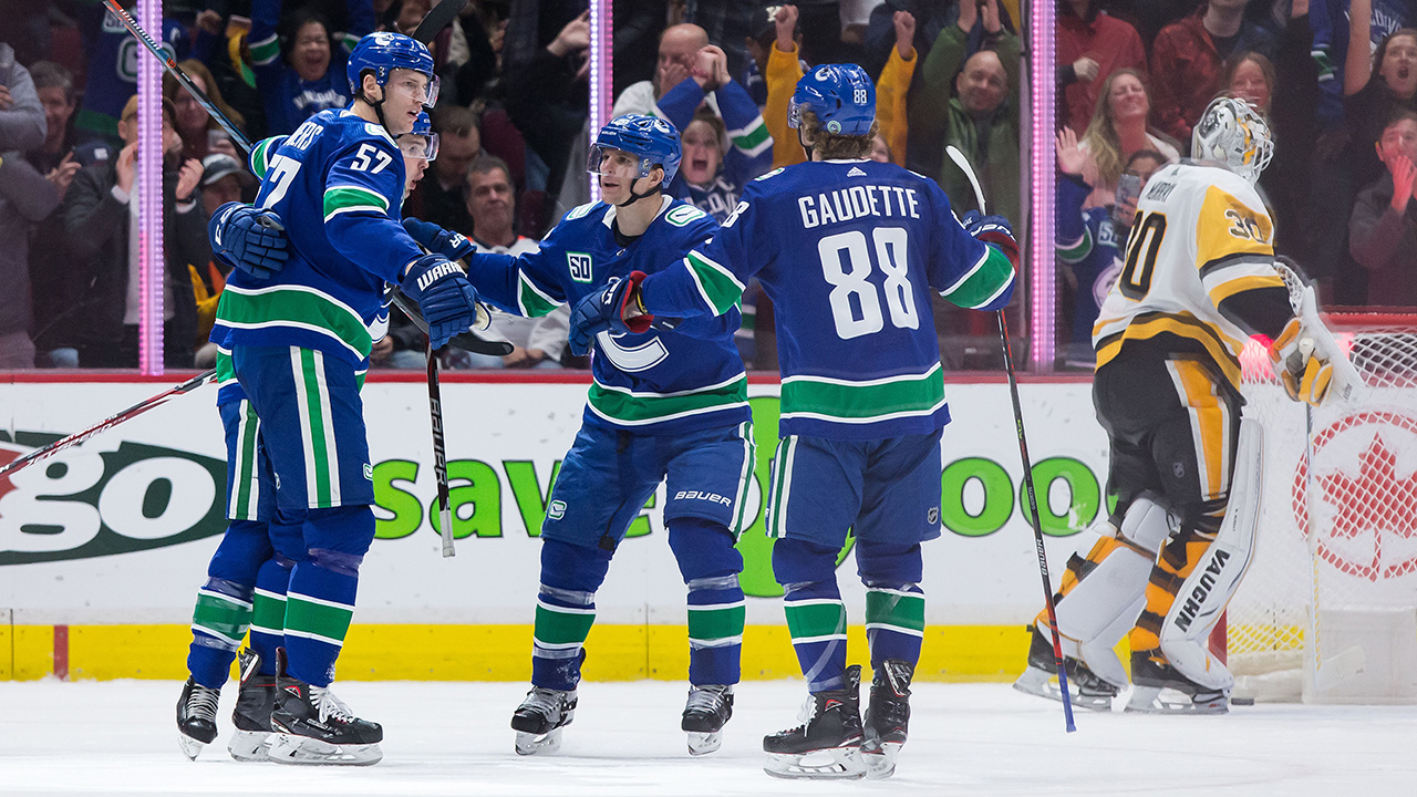 Canucks top the Pens in a game with some bizzare twists