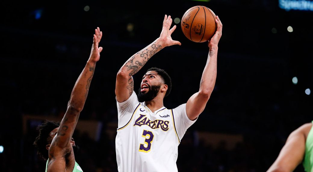 Lakers roll on as Davis drops 50 points on Wolves