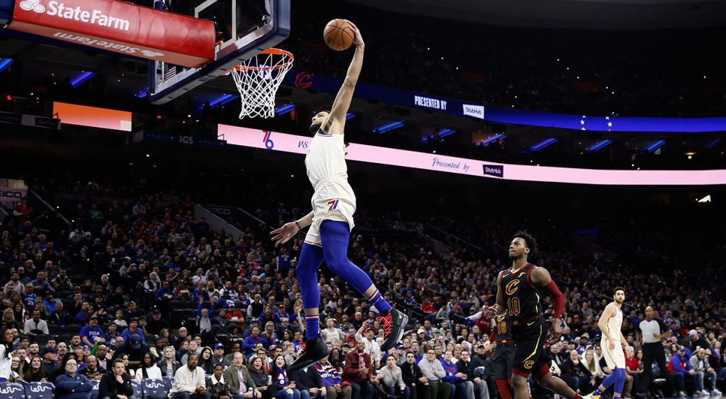 76ers beat Cavs as Simmons scores career high 34