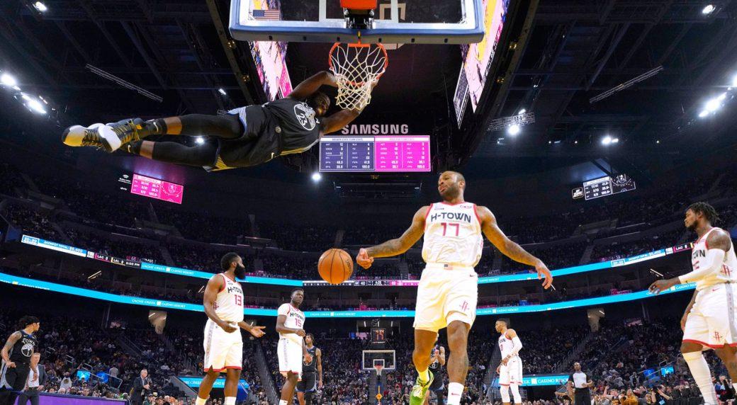 Damion Lee, Golden State Warriors upset the Houston Rockets