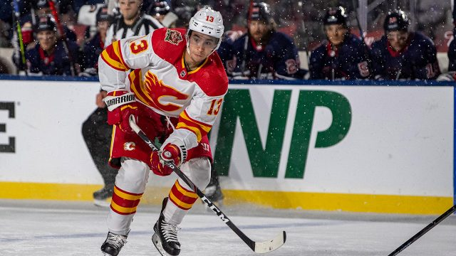 flames-johnny-gaudreau-skates-against-jets-at-heritage-classic