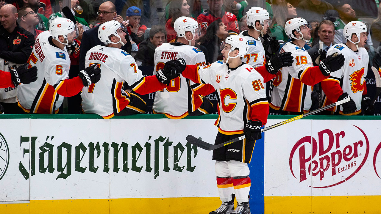 Rittich made 26 saves and picked up an assist as Calgary downed the Stars
