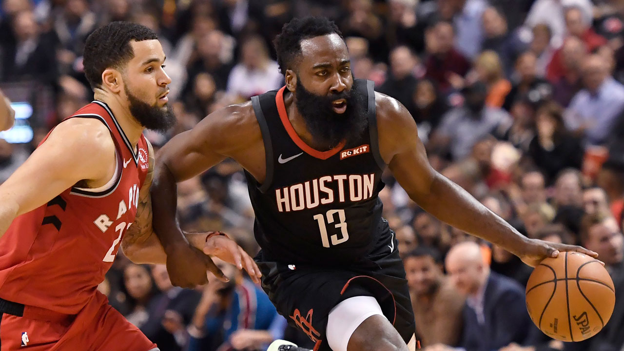 Raptors' high-risk experiment to contain Harden backfires against Rockets
