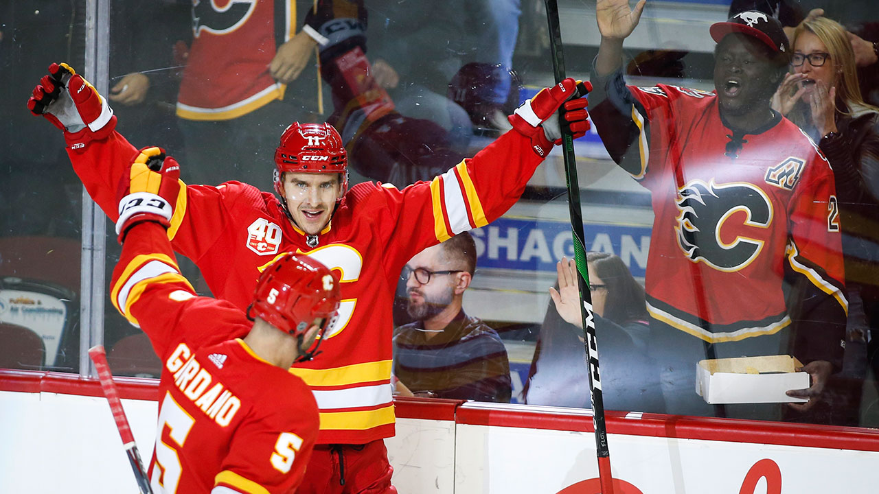 Johnny Gaudreau has a goal and an assist to lead Flames past Rangers
