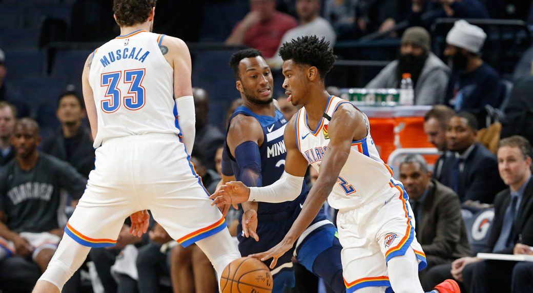 Shai Gilgeous-Alexander's first career triple-double guides Thunder past Timberwolves