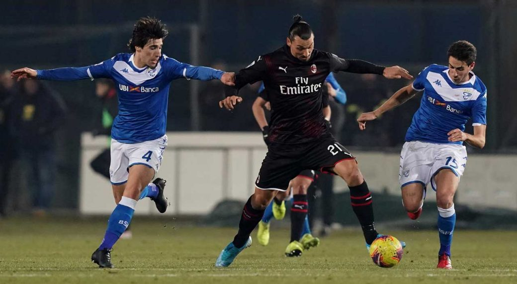 Milan striker Zlatan Ibrahimovic tests positive for coronavirus