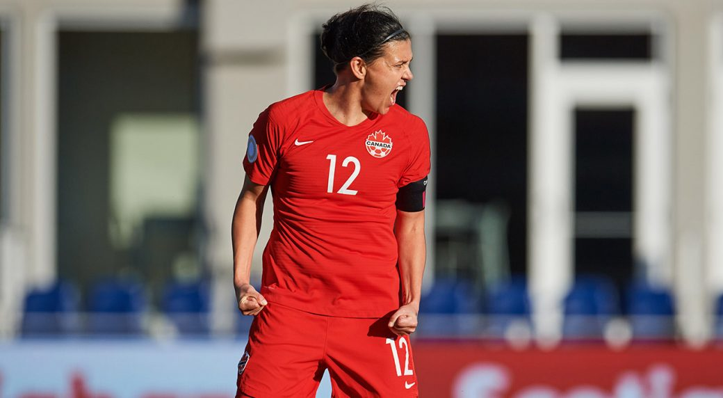 canadas-christine-sinclair-celebrates-record-breaking-goal
