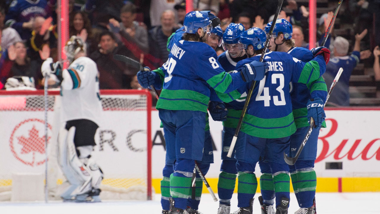 A big win at home over the Sharks has the Canucks on top of the (Western) world