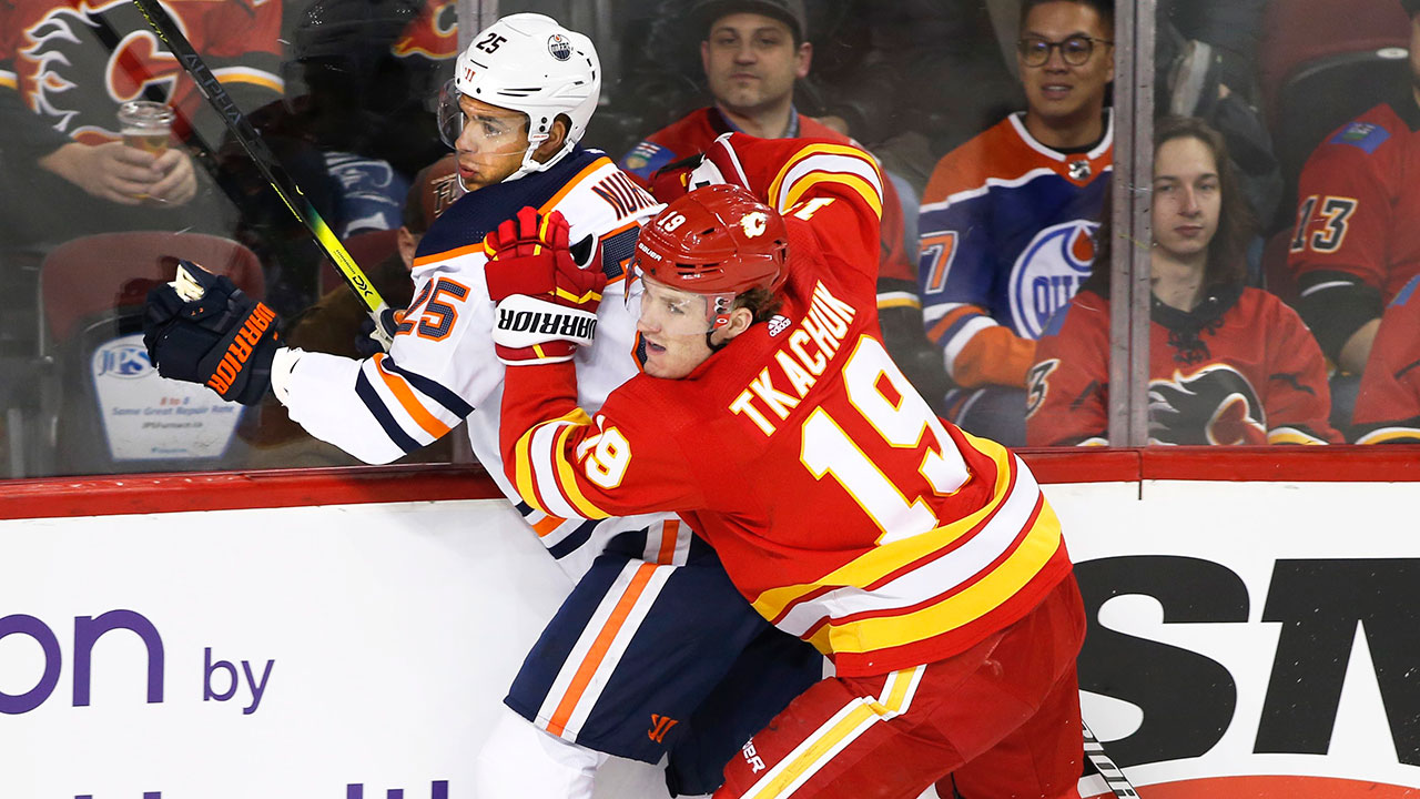 Respect of Flames' Tkachuk questioned after dangerous hits on Kassian