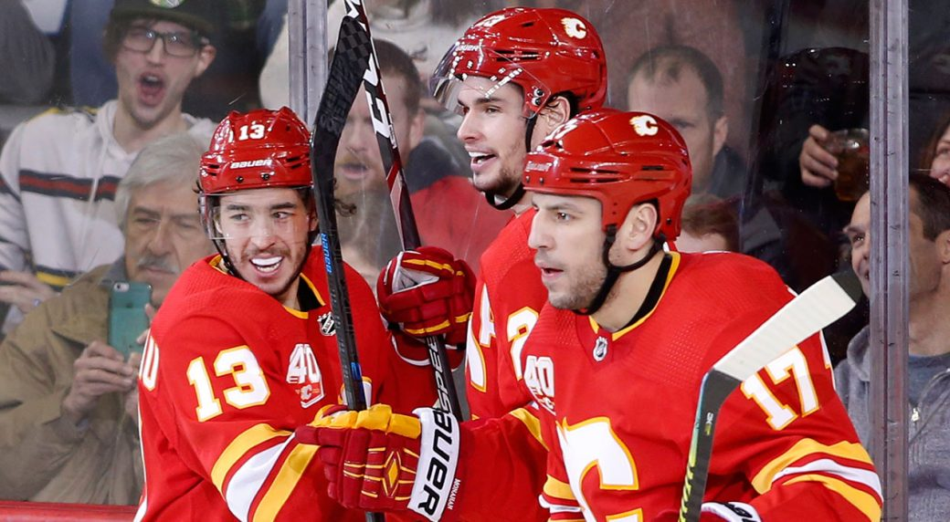 Flames Embrace Moment Of Levity Prior To Pivotal Battle Of Alberta Rematch Sportsnet Ca