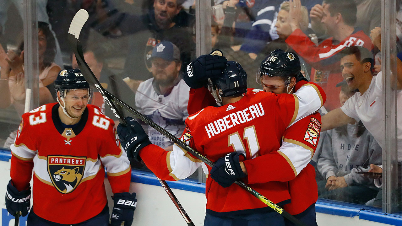 Panthers' blow out the Leafs, and see a new career points leader in Huberdeau